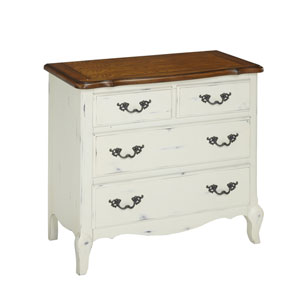 The French Countryside Oak and Rubbed White Drawer Chest
