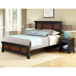 Aspen Queen Bed and Night Stand