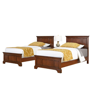 Chesapeake Cherry Two Twin Beds and Night Stand