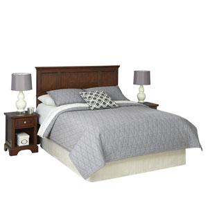 Chesapeake Cherry Queen Headboard and Two Night Stands