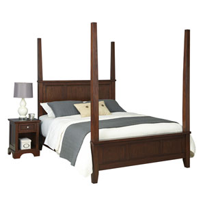 Chesapeake Cherry King Poster Bed and Night Stand