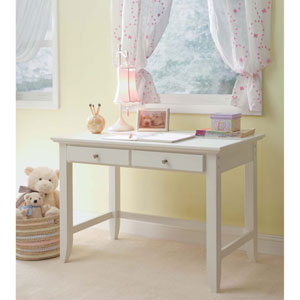 Naples White Student Desk