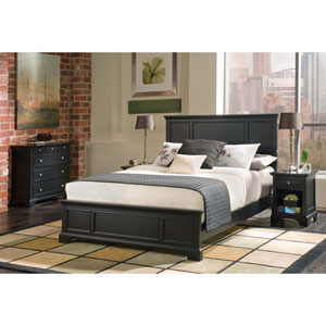 Bedford Black Queen Bed, Night Stand, and Chest