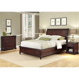 Lafayette Queen and Full Sleigh Headboard, Night Stand, and Drawer Chest