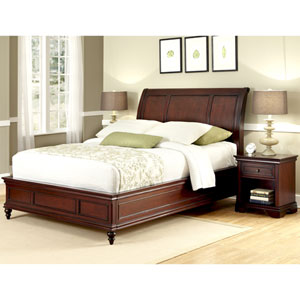 Lafayette Queen Sleigh Bed and Night Stand
