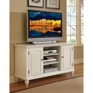 Bermuda Textured Brushed White TV Credenza Stand