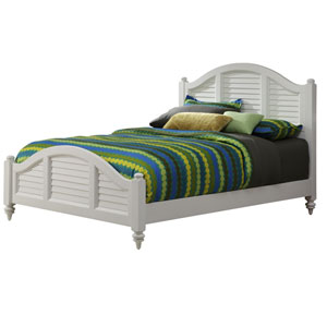 Bermuda Brushed White Queen Bed