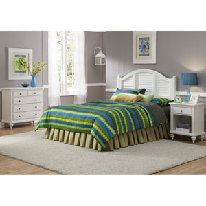 Bermuda Brushed White Three-Piece Bedroom Set