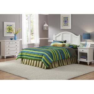 Bermuda Brushed White Three-Piece Bedroom Set