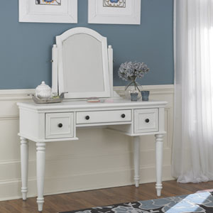 Bermuda Vanity and Mirror White Finish