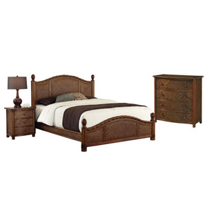 Marco Island Refined Cinnamon Queen Bed, Night Stand and Drawer Chest