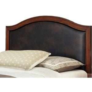 Duet Queen Camelback Headboard Brown Leather Inset