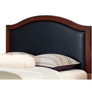 Duet Queen Camelback Headboard Black Leather Inset