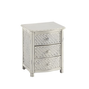 Marco Island Weather-Worn Rubbed White Night Stand