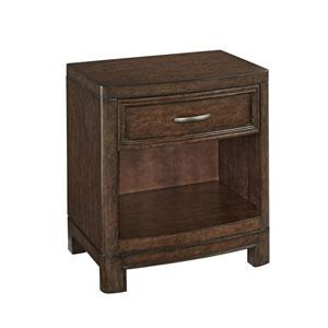 Crescent Hill Two-Tone Tortoise Shell Night Stand