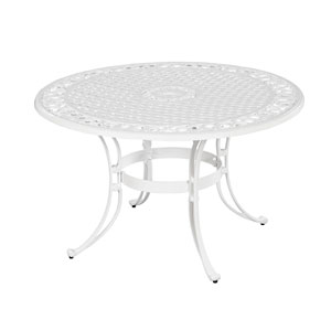 Biscayne White 48-Inch Round Dining Table