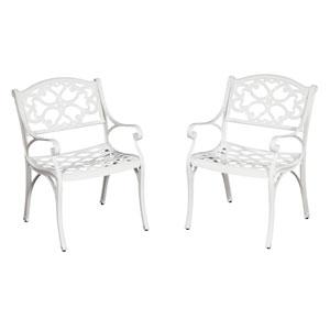 Biscayne White Arm Chair Pair