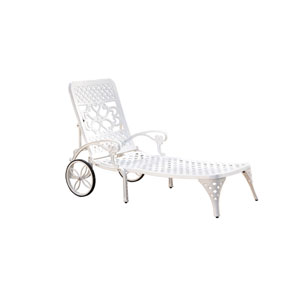 Biscayne White Chaise Lounge Chair