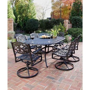 Biscayne Black Outdoor Seven Piece Dining Set