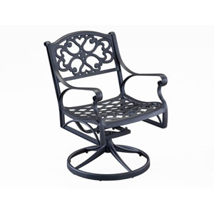 Black Swivel Arm Chair