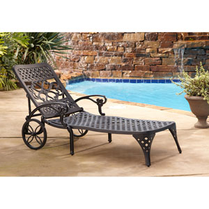 Biscayne Black Chaise Lounge Chair