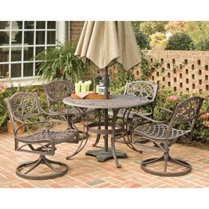 Biscayne Bronze Five-Piece Dining Set