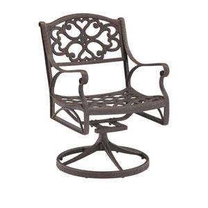 Rust Brown Swivel Arm Chair