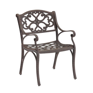Rust Brown Arm Chair, Set of Two