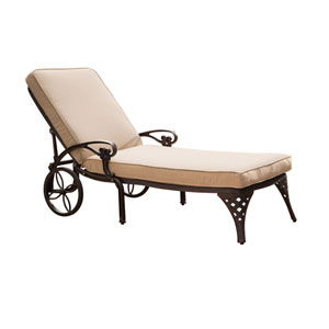 Biscayne Bronze Chaise Lounge Chair with Taupe Cushion