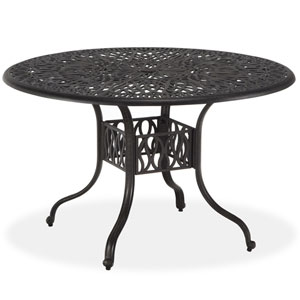 Floral Blossom Gray 48-Inch Round Dining Table