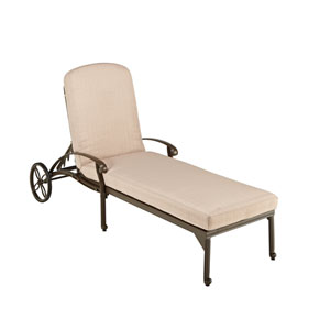 Floral Blossom Taupe Outdoor Chaise Lounge Chair