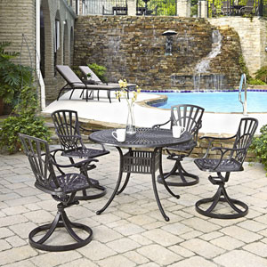 Largo Charcoal 5 Piece Dining Set