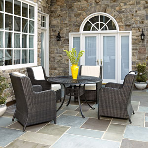 Largo Charcoal 5 Piece Dining Set with Riviera Chairs