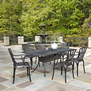 Largo Charcoal 7 Piece Dining Set