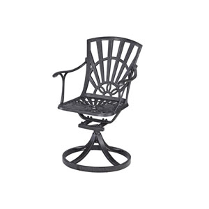 Largo Charcoal Swivel Chair with Cushion