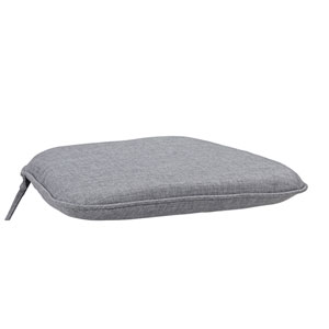 Largo Gray Polyester Seat Cushion