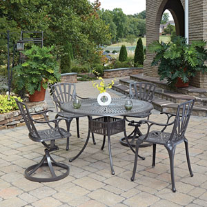 Largo Taupe 48.5-Inch 5-Piece Outdoor Dining Set