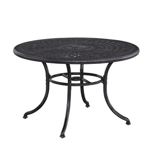 Athens Charcoal 48-Inch Round Outdoor Dining Table