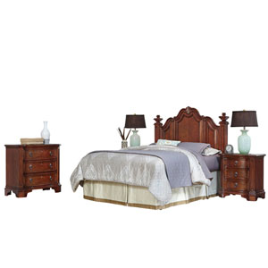 Santiago Cognac Queen/Full Headboard, Two Night Stands, and Chest