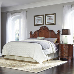Santiago Cognac King/California King Headboard and Night Stand