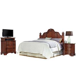 Santiago Cognac King/California King Headboard, Night Stand, and Media Chest