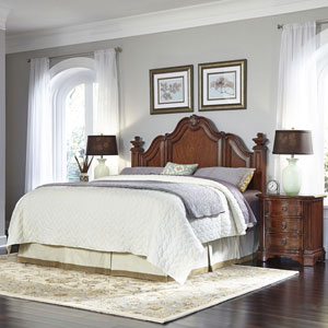 Santiago Cognac King/California King Headboard and Two Night Stands