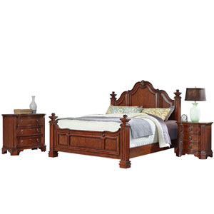Santiago Cognac King Bed, Night Stand, and Chest