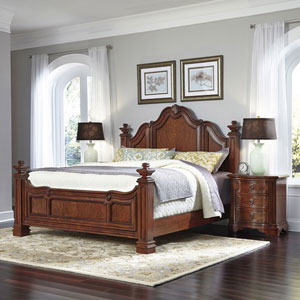 Santiago Cognac King Bed and Two Night Stands