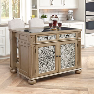 Visions Kitchen Island and Two Stools