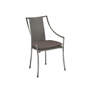 Urban Outdoor Aged Metal Cafe Chair, Set of 2