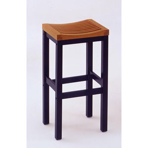 24-Inch Black with Cottage Oak Bar Stool
