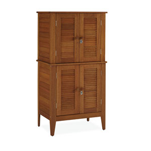 Montego Bay Eucalyptus Four Door Multi-Purpose Storage Cabinet