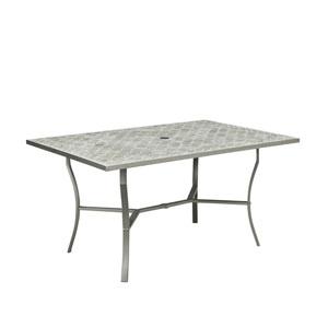 Umbria Concrete Tile Rectangular Outdoor Table