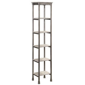 The Orleans Gray Powder-Coated Steel and Faux Marble Six Tier Tower